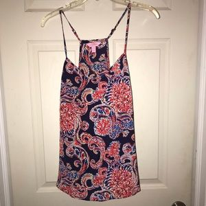Lilly Pulitzer Silk Top in For The Halibut Print